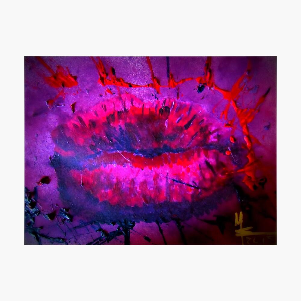 Pink Kiss - Hot Kiss Fotodruck