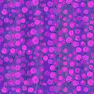 Candy Field, pink and violet, abstract floral pattern by clipsocallipso