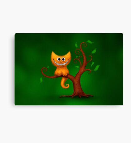 A Cheshire Kitten Canvas Print