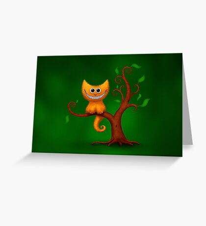 A Cheshire Kitten Greeting Card