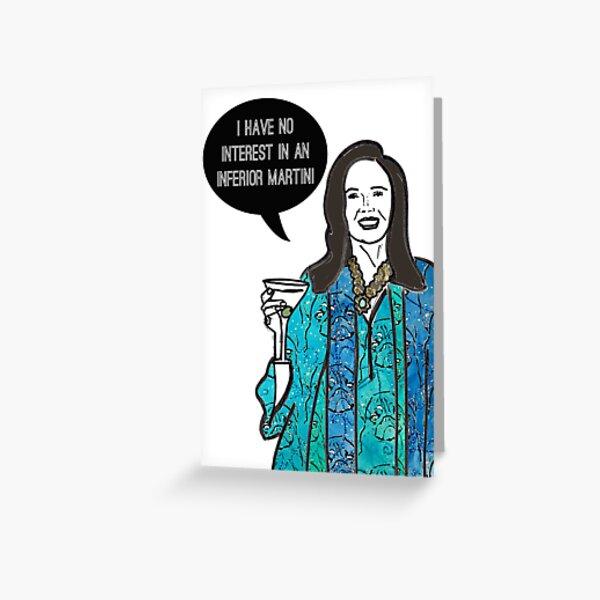 Inferior Martini Greeting Card