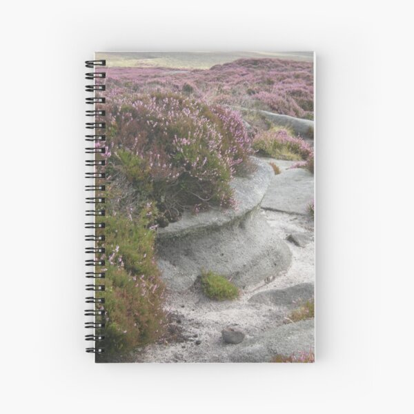Heather and errosion on Stanage Edge Spiral Notebook