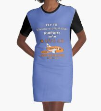 Fly to Quahog International Airport wth Anal Air Graphic T-Shirt Dress