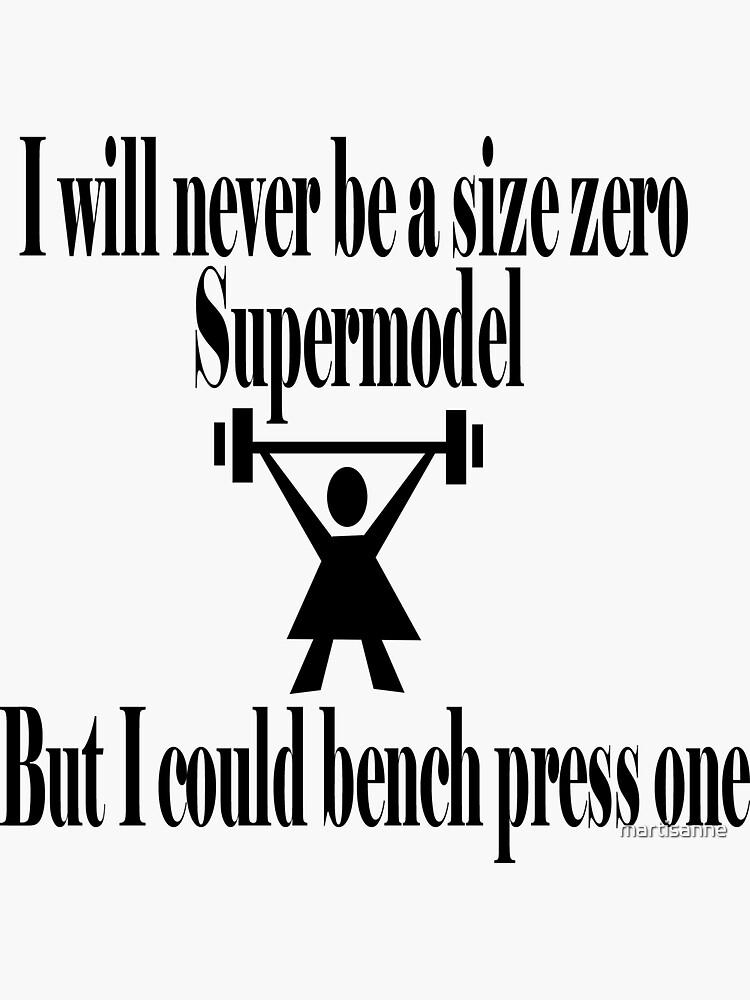 Bench Press a supermodel by martisanne
