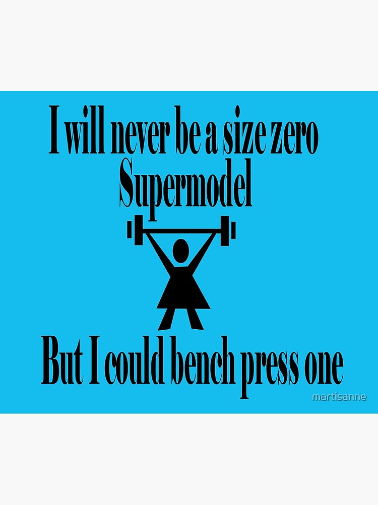 Bench Press a supermodel by martisanne