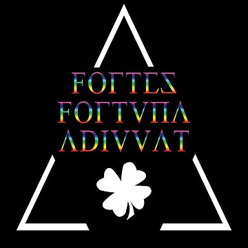 Fortes fortuna adiuvat - Latin Quotes Shirt - smart aleck T-Shirt - nerd T Shirt       by XLXDesign