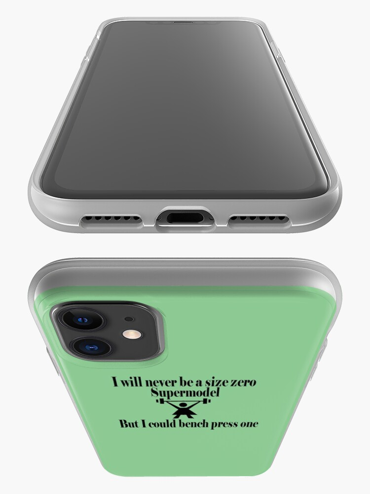 Alternate view of Bench Press a Supermodel Green iPhone Case & Cover