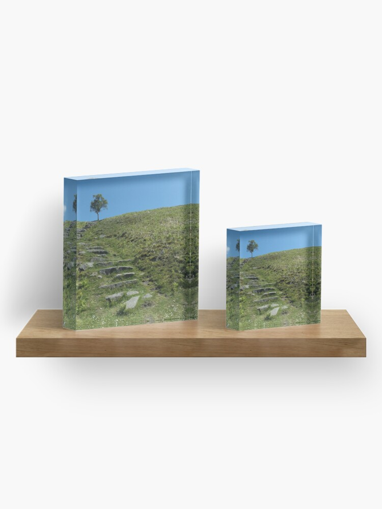 Alternate view of Steps to the sky Acrylic Block