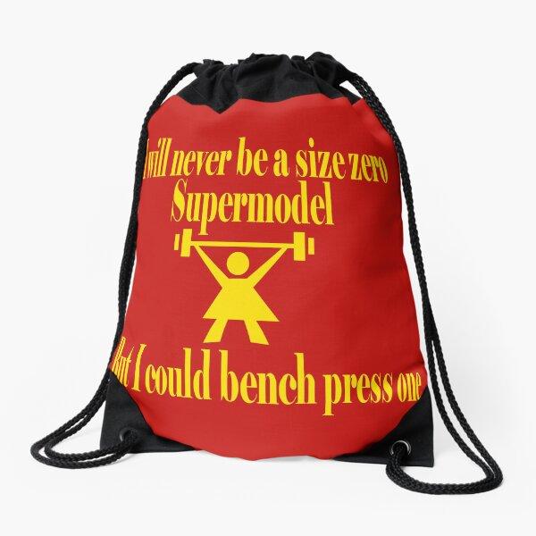 Bench Press a Supermodel in Gold Drawstring Bag