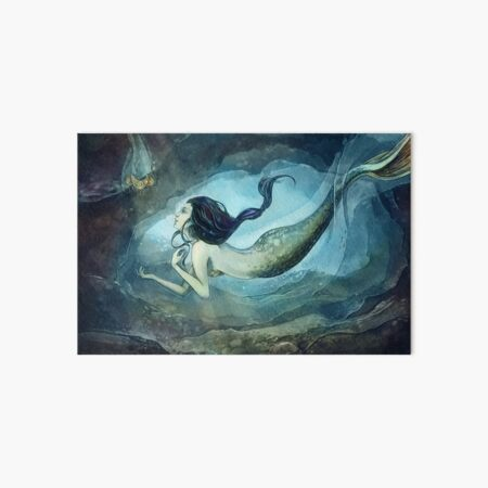 Mermaid treasure Art Board Print