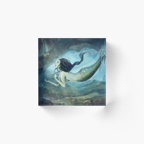 Mermaid treasure Acrylic Block