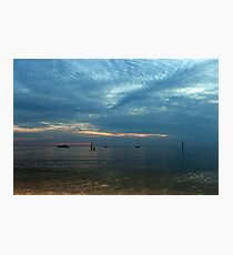 Lake in the evening. Photographic Print