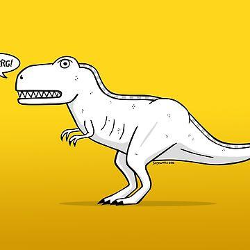 Cartoon Tyrannosaurus Rex by siege103