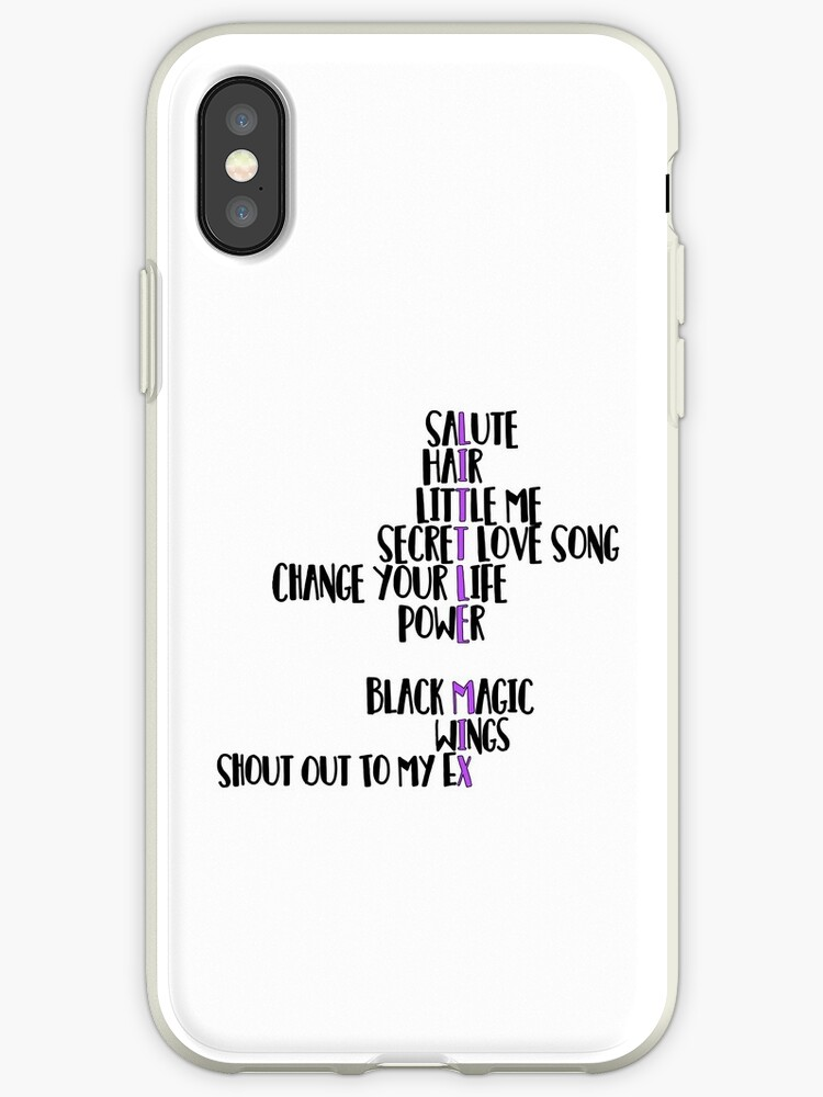 'Little Mix Songs' iPhone Case by LaurasPlace