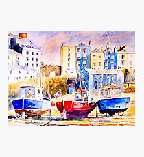 Tide Out At Tenby Photographic Print