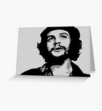 Ernesto Che Guevara black and white portrait Greeting Card