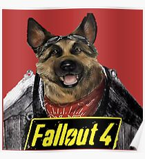 fallout4 dog meat (power armour) Poster
