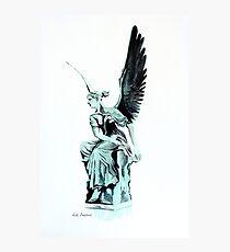 Statue watercolor Photographic Print