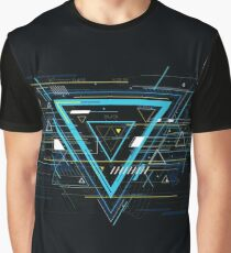 Tech futuristic abstract backgrounds, colorful triangle Graphic T-Shirt