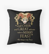 Shakespeare Comedy Of Errors Feast Quote Throw Pillow