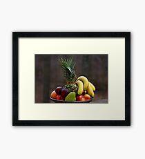 A basket of fruits Framed Print