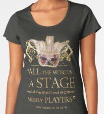 Camiseta premium de cuello ancho Shakespeare como te guste Cita de la etapa
