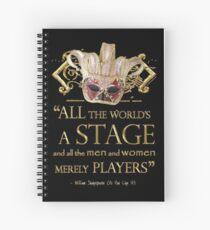 Cuaderno de espiral Shakespeare como te guste Cita de la etapa