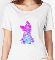 Yorkshire Terrier Silhouette Women's Relaxed Fit T-Shirt