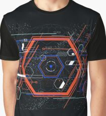 Tech futuristic abstract colorful hexahedron Graphic T-Shirt