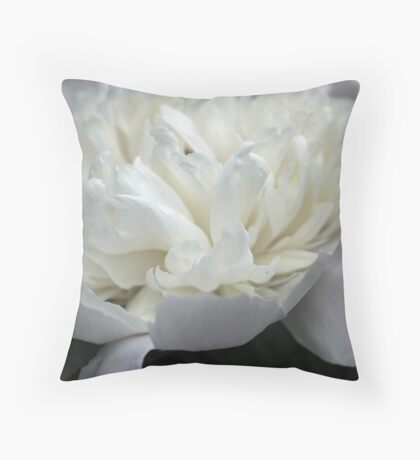 White and Black in Living Color Throw Pillow