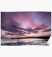 Sunset in 60 Seconds - False Bay, San Juan Island Poster