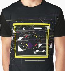 Tech futuristic abstract colorful square, sci-fi geometric  Graphic T-Shirt