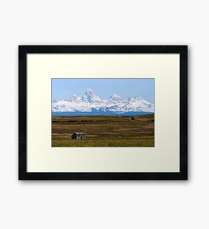 The Tetons from Idaho Framed Print