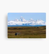 The Tetons from Idaho Canvas Print