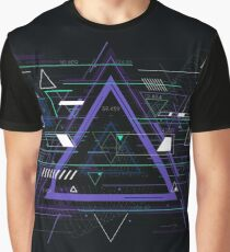 Tech futuristic abstract triangle geometric, sci-fi illustration Graphic T-Shirt