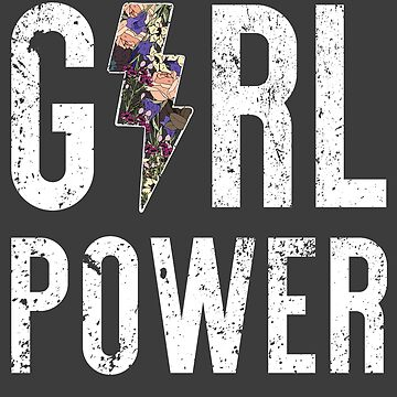 Girl Power Lifting Strong Women Empowered Feminism T-Shirt by irondiscipline