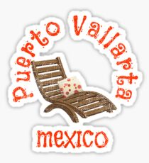 Lounging by the Pool Puerto Vallarta Mexico Sticker
