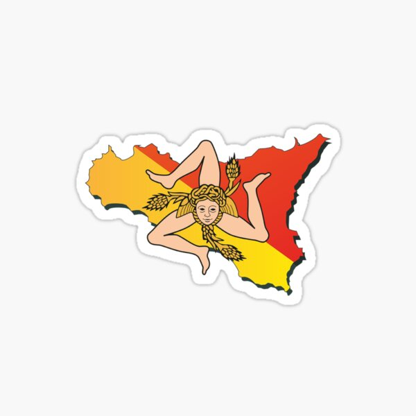 Sicily Flag Sicilian T-Shirt Sticker