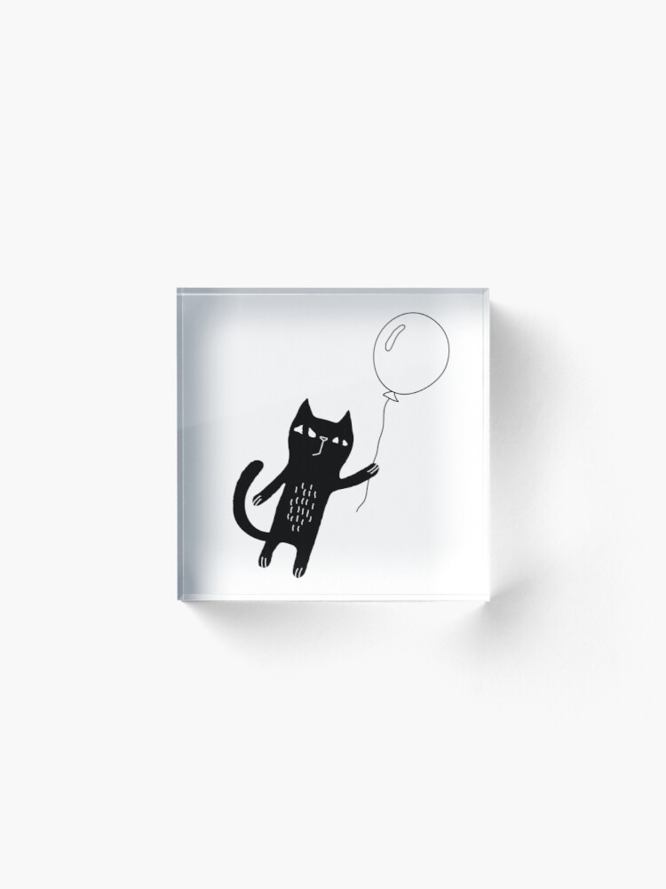 Alternate view of Flying Cat Acrylic Block