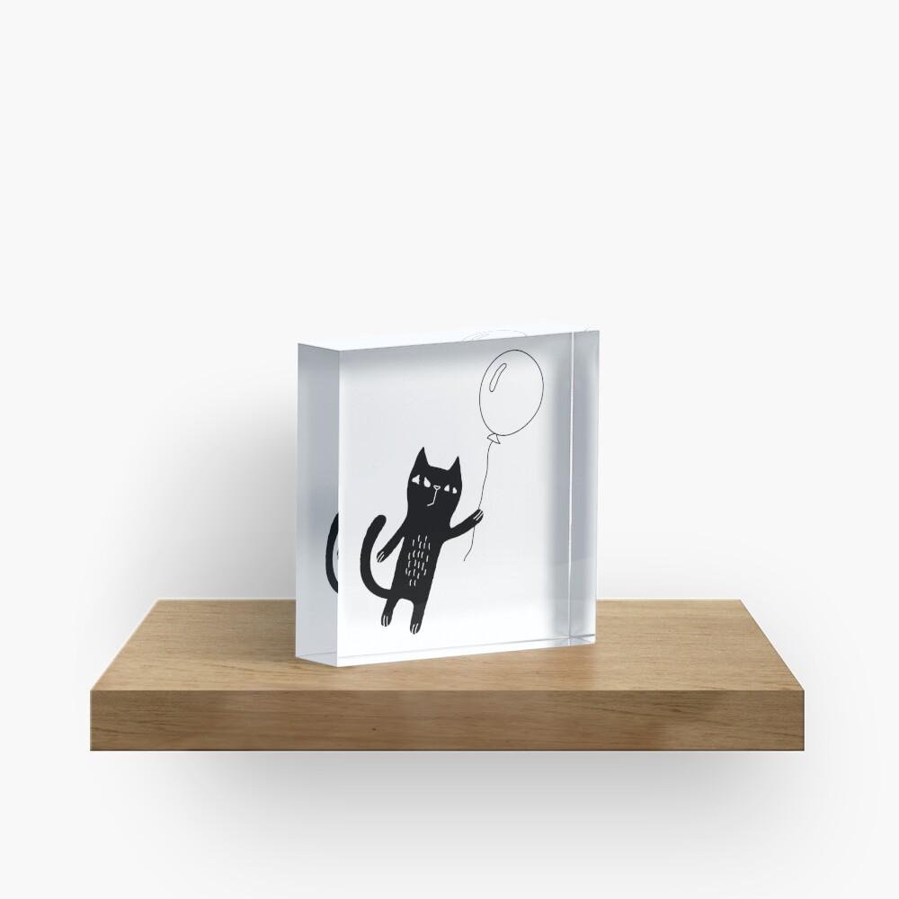Flying Cat Acrylic Block