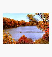 Autumn on the Assiniboine Photographic Print