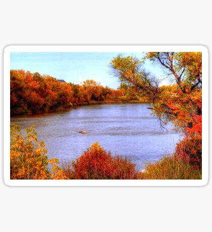 Autumn on the Assiniboine Sticker
