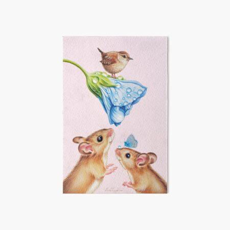 Cute mice by Maria Tiqwah Art Board Print