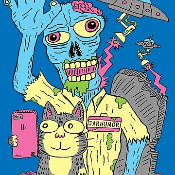 Katzen Zombie UFO von jarhumor