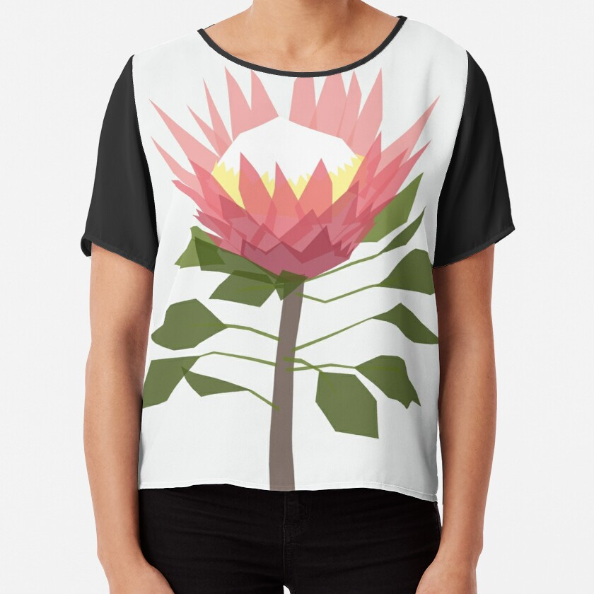 King Protea Chiffon Top