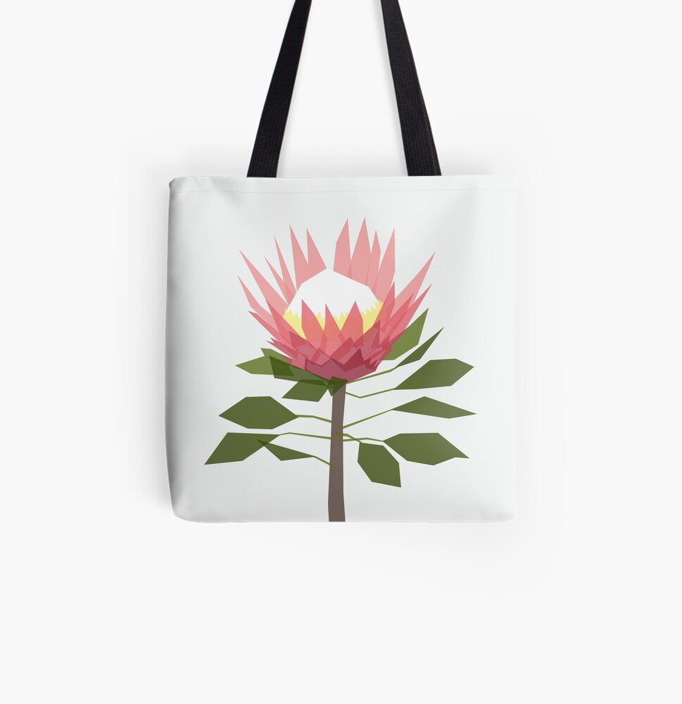 King Protea All Over Print Tote Bag
