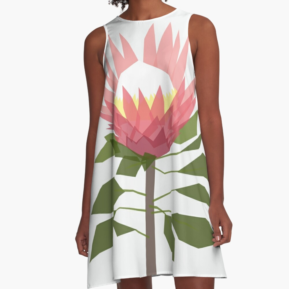 King Protea A-Line Dress