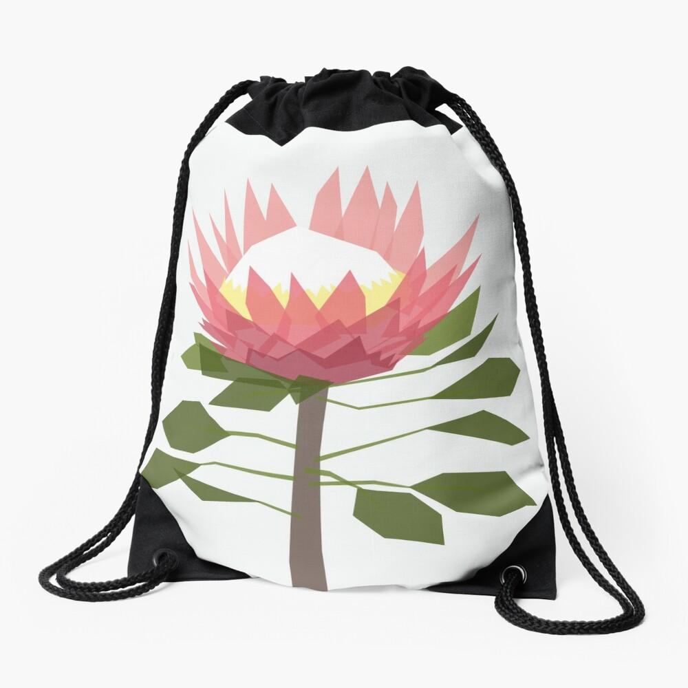 King Protea Drawstring Bag