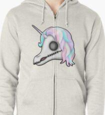 My Little Dead Unicorn | Unicorn Skull | Pastel Rainbow Zipped Hoodie