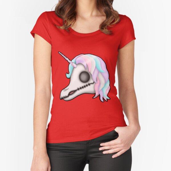 My Little Dead Unicorn   Unicorn Skull   Pastel Rainbow Fitted Scoop T-Shirt